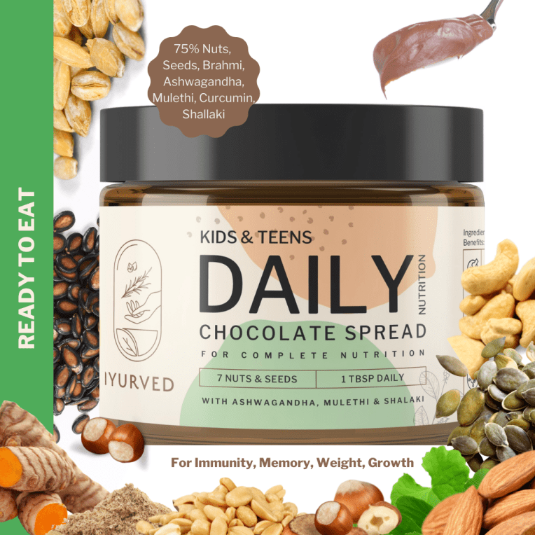 Kids and teens Daily nutrition Ayurvedic chocolate spread by Iyurved