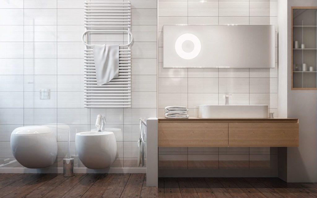 salle de bains rectangulaire l
