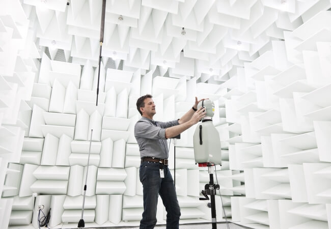Sound lab - anechoic chamber
