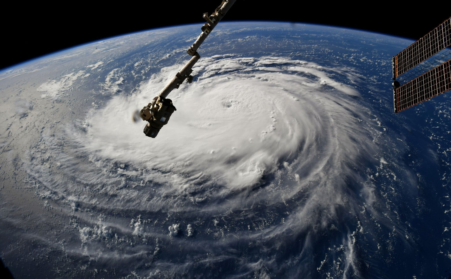 Hurricane Florence Viewed from the Space Station