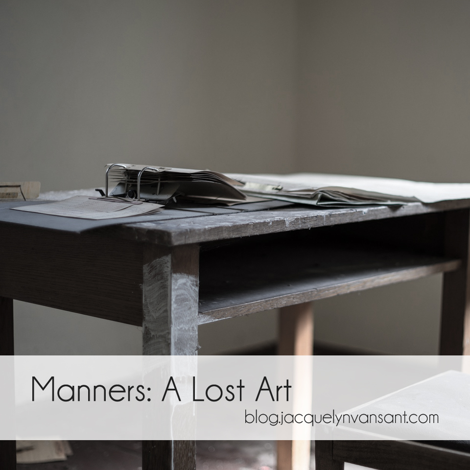 Manners A Lost Art series on A Heavenly Home