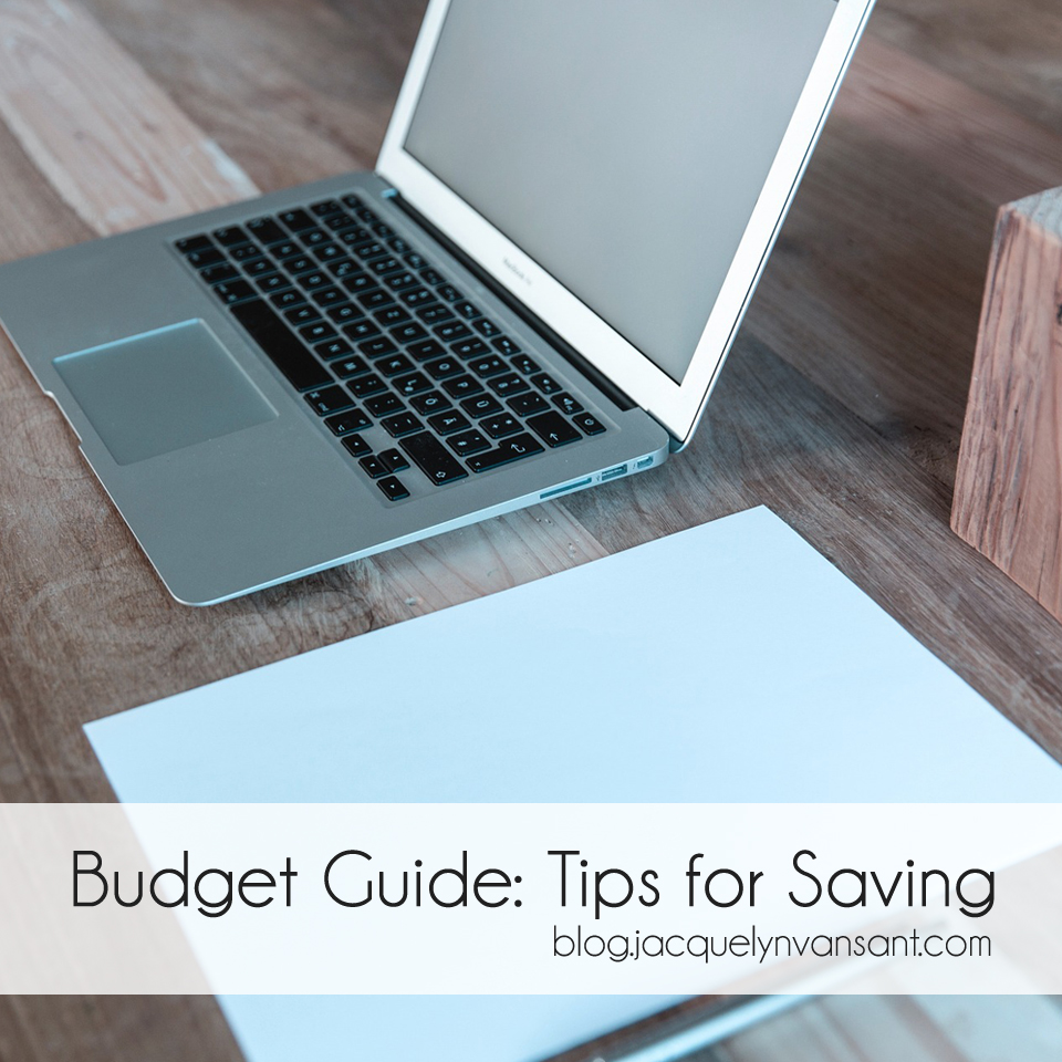 Budget Guide series - tips for saving