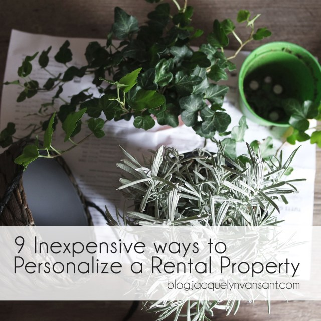 Image of potted plants, one of nine inexpensive ways to personalize a rental property