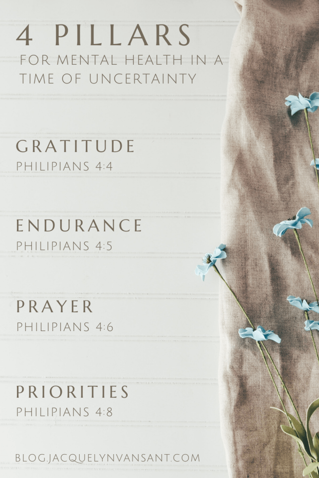 Four Pillars for mental health in a time of uncertainty, from Philippians 4.