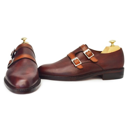 chaussures hommes double boucles