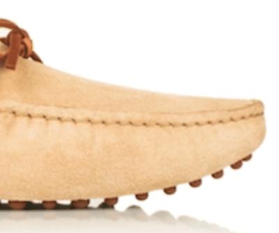 montages des chaussures mocassin