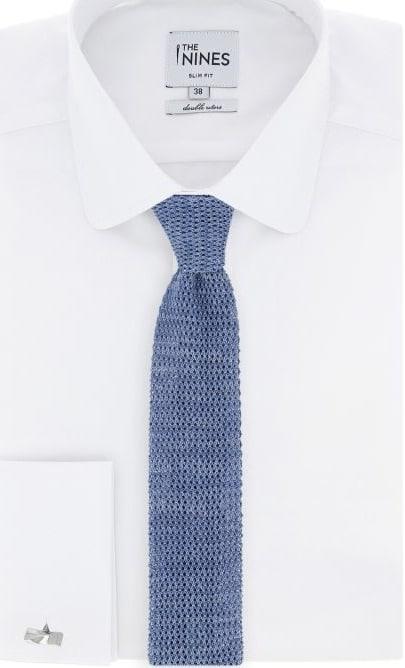 245e4151685d Voici une cravate bien sympa de chez the nines, qui joue sur la couleur ET  sur la matière.