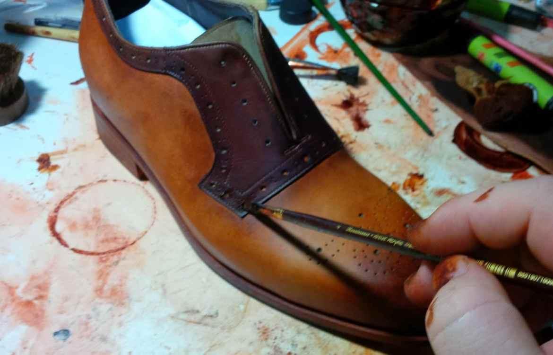 patine ur chaussures en cuir