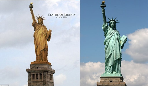 Patine statue de la liberté