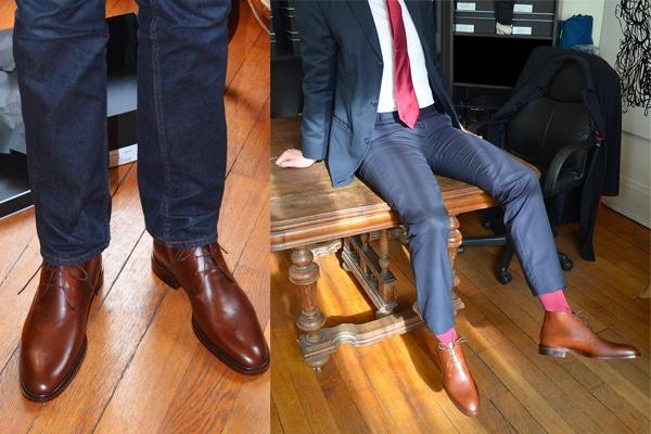 choisir des chaussures pour homme chukka formal ou causal