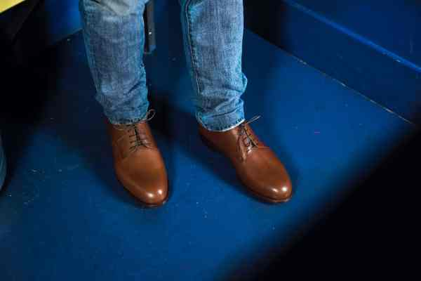 Chaussure derby plain toe