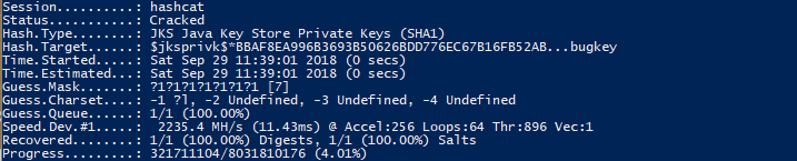 Brute Forcing A Forgotten Keystore Password Using Hashcat | Jake Lee