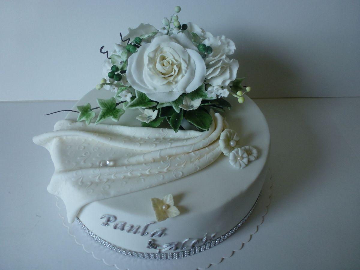 Hochzeitstorte zur diamantenen Hochzeit
