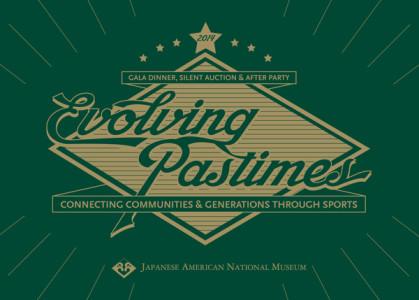 2014 Gala Dinner - Evolving Pastimes