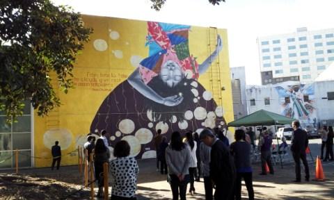 Dedication ceremony for Katie Yamasaki's Moon Beholders mural