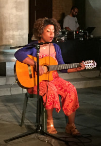 Priska Neely mesmerizes the audience with her funny, mellow songs. Photo: Audrey Chan.