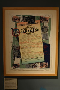 Qris Yamashita's silkscreen poster, Redress/Reparations Now!/Little Tokyo. Photo by Gary Ono.