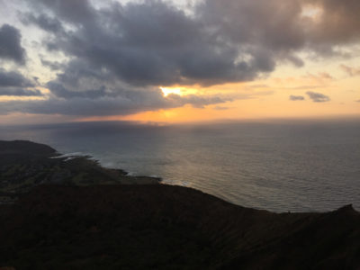 Sunrise at Koko Head Crater.