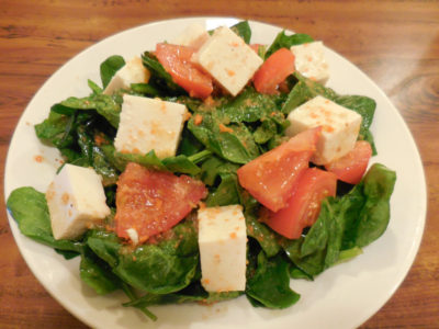 The tofu salad at Kouraku.
