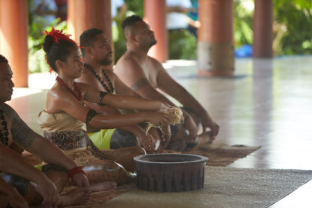 A traditional 'ava ceremony performed in Samoa. Photo by John Agcaoili.