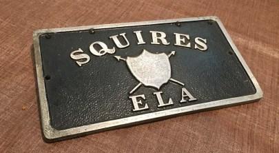 Squires car plaque