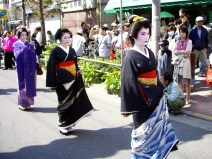 Geisha in Tokyo: Hangyoku and geishas