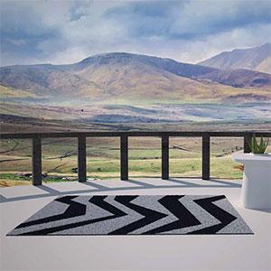 astuce d co le tapis comme touche design pour votre ext rieur le blog jardinchic. Black Bedroom Furniture Sets. Home Design Ideas