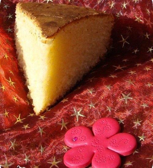 gâteau à la crème fraîche, idéal pour finir le pot de crème !