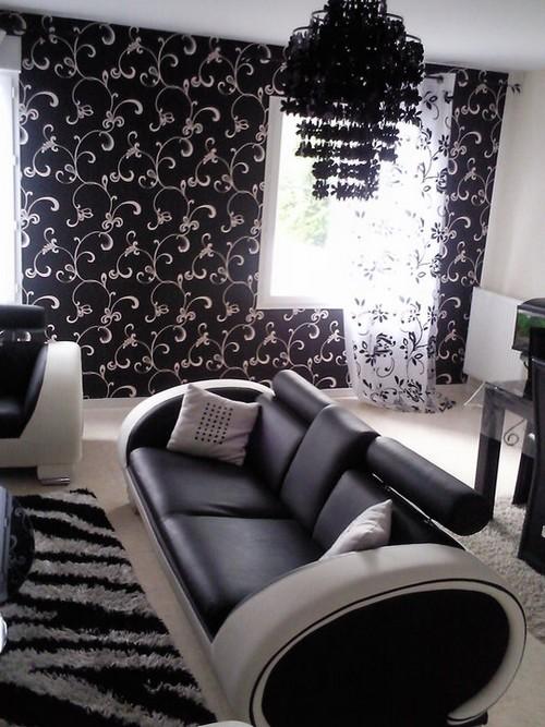 Un salon tout noir et blanc  Jasmine and Co  DIY et tuto de dcoration orientale marocaine