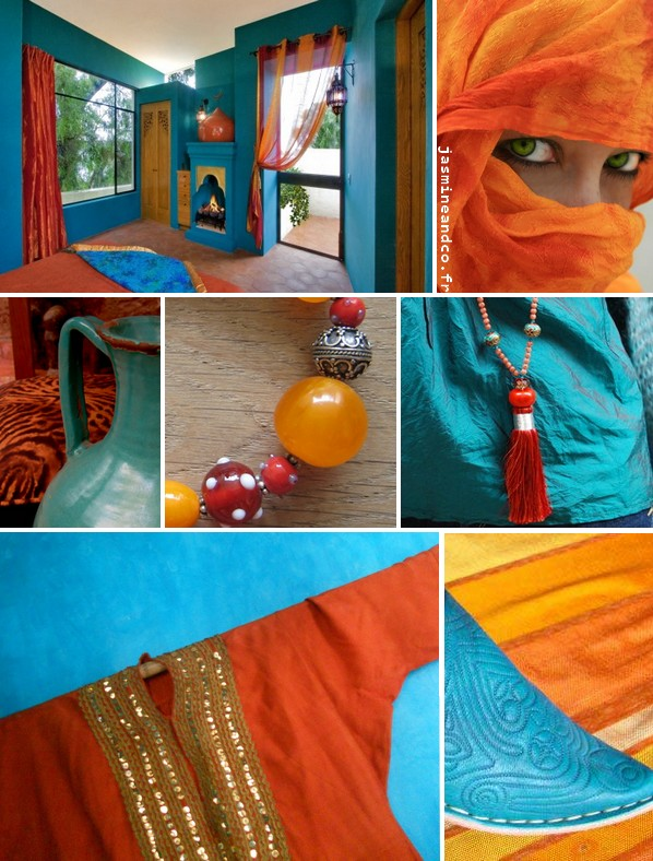 dco chambre orientale turquoise