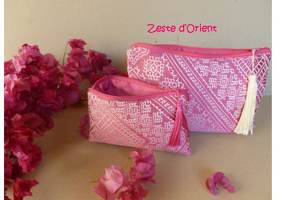 trousse broderie marocaine
