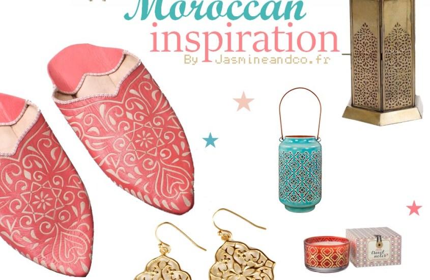Décoration marocaine turquoise, corail et or