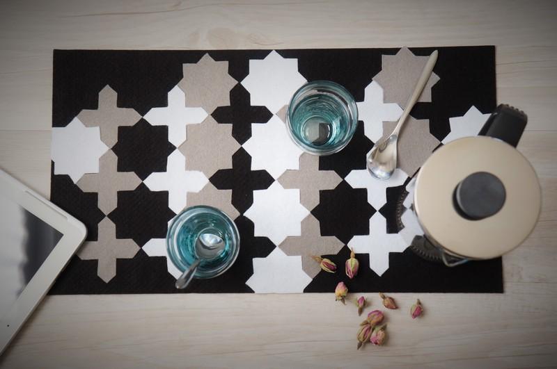 Faire un set de table marocain zellige DIY