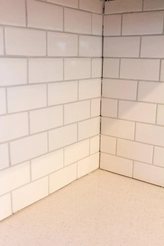 a diy subway tile backsplash part 2