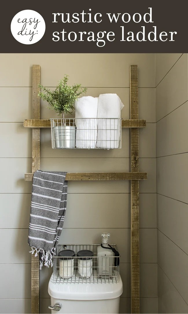 3 Easy  practically free DIY Rustic Wood Projects for your Bathroom  Jenna Sue Design Blog