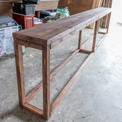 Behind The Sofa Table Restoration Hardware 96 Lancaster Leather 30 Diy Console Tutorial Jenna Sue Design Blog Img 6947