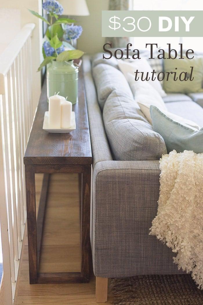 30 DIY SofaConsole Table Tutorial  Jenna Sue Design Blog