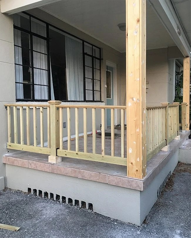 diy wood porch railing