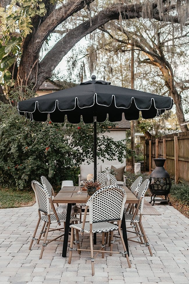 french bistro inspired patio dining