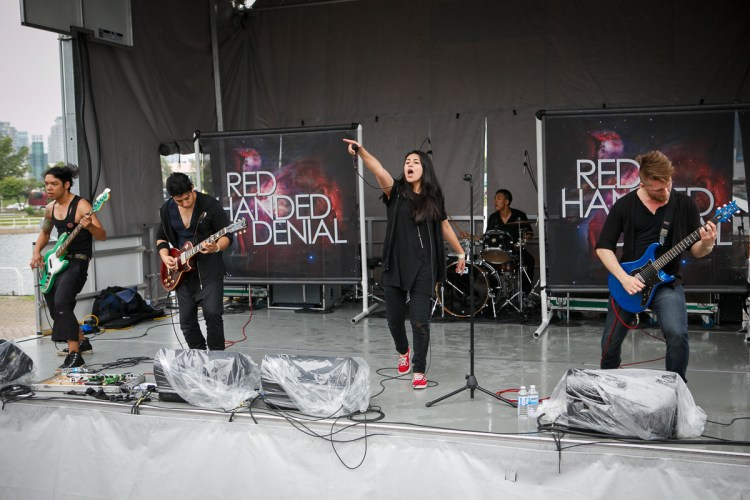 Red Handed Denial at Vans Warped Tour 2015 Lemmon Stage