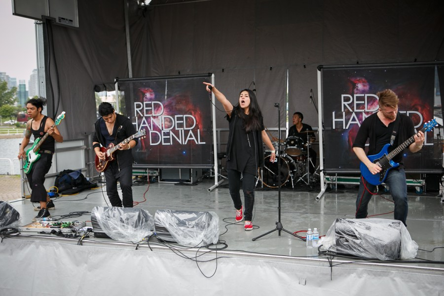 Red Handed Denial at Vans Warped Tour 2015 Lemmon Stage