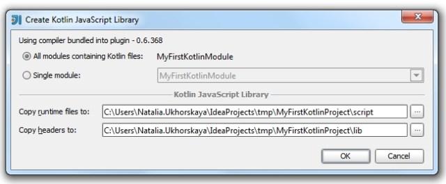 Create JavaScript library Dialog