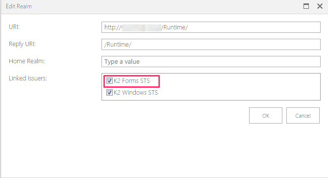 Enable Forms Authentication on K2 smartforms site