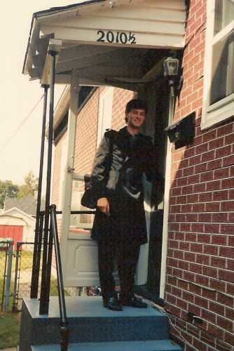 Me at my front door, 1989