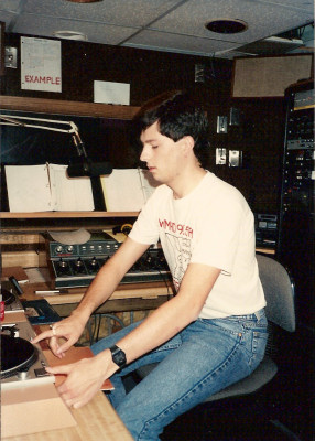 Me on the air in 1989