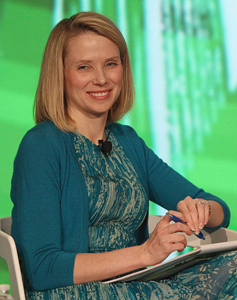 Yahoo!'s Marissa Meyer. TechCrunch photo.