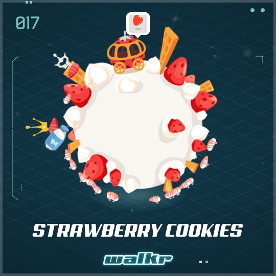 No.017 Strawberry Cookies