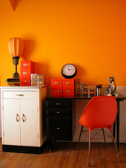 Orange Accent Wall Living Room Ideas