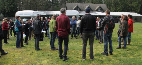 Dan Hinkley welcoming Mahonia Summit participants to Heronswood