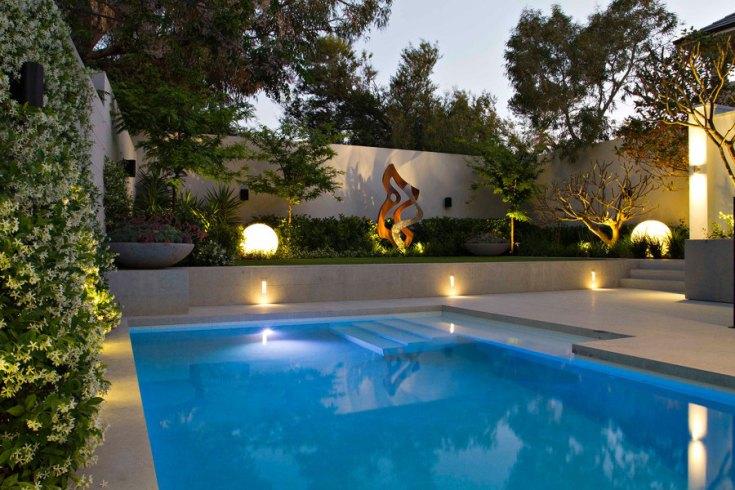 Outdoor Neon Coated Pool Patio